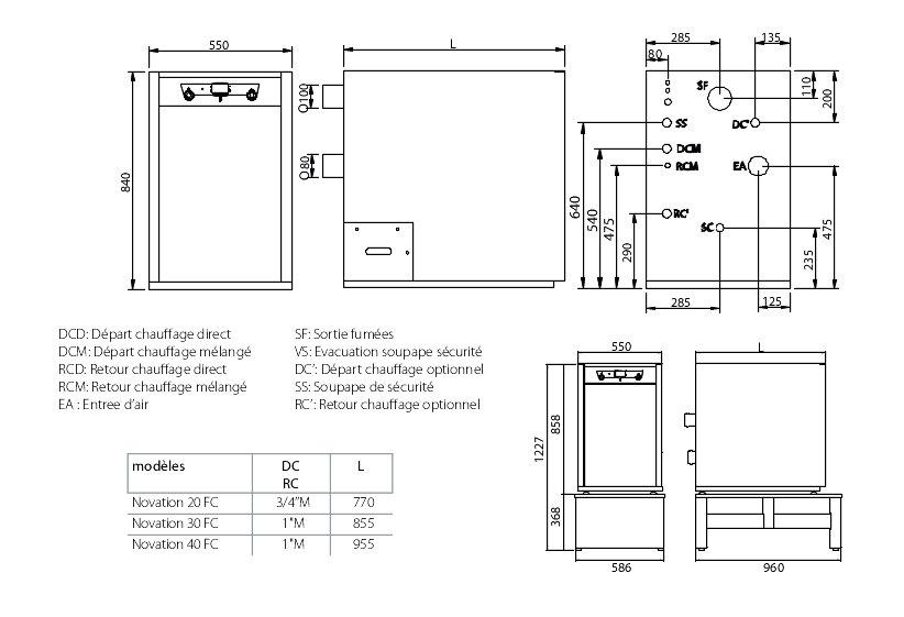 chaudi re sol fioul condensation novation hfc chauffage seul ventouse ou chemin e domusa. Black Bedroom Furniture Sets. Home Design Ideas