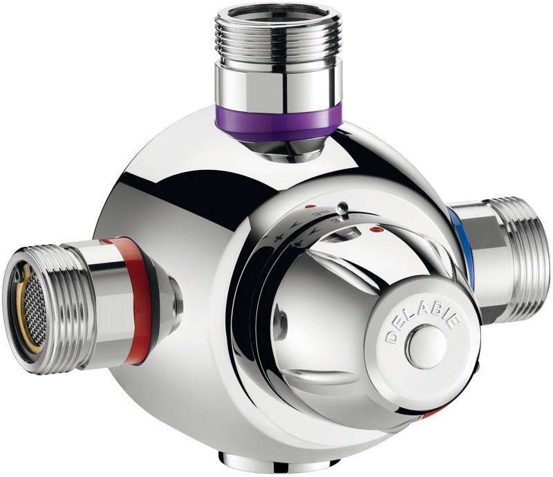Mitigeur thermostatique premix confort t delabie - Mitigeur thermostatique douche fonctionnement ...