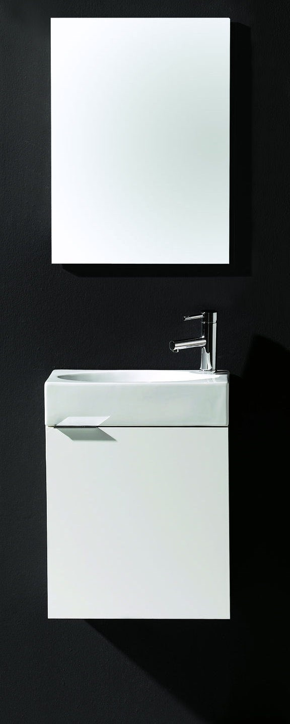 Photo de l'article ROYO Meuble WC SMART 45 avec lave-mains et miroir