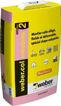 WEBER ET BROUTIN Mortier-colle pour carrelage (C2 Anhydrite) WEBER.COL ANHYDRITE 2