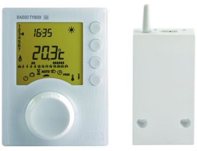 DELTA DORE Thermostat programmable radio 1 zone pour chaudière TYBOX