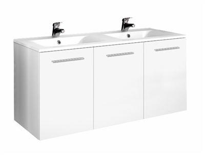 meuble sous vasque 3 portes 120 cm srie adesio 3. Black Bedroom Furniture Sets. Home Design Ideas